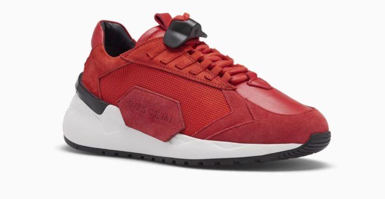 Buscemi Run2 Sneaker in Red