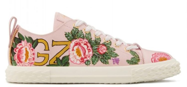 Giuseppe Zanotti Pink Embroidered Sneakers