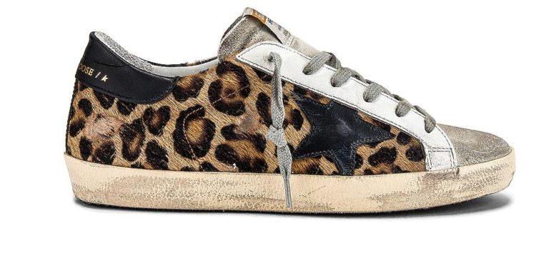 Golden Goose Mid Star Sneakers with Animal-Print Details and Handwritten Lettering