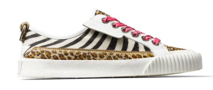 Jimmy Choo Impala LoF Animal-Print Sneakers