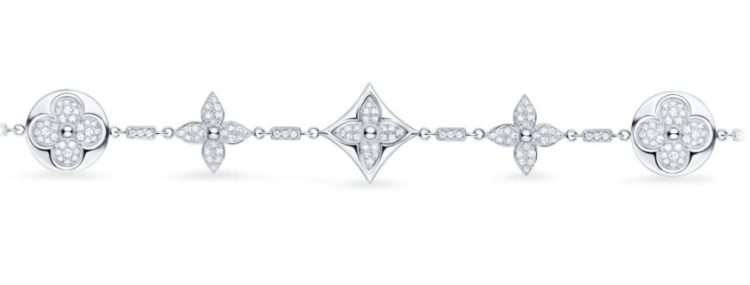 Louis Vuitton Diamond Blossom Bracelet in White Gold and Diamonds
