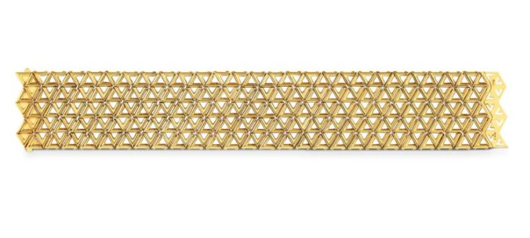 The Louis Vuitton LV Volt Mesh Bracelet in Yellow Gold