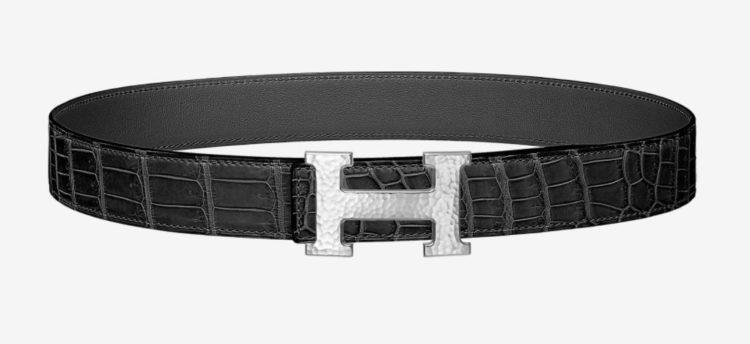 Hermes H Martelee belt buckle & Leather strap 32 mm