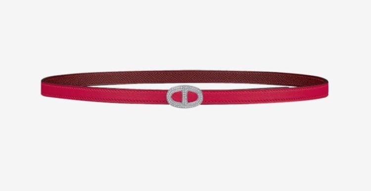Hermes Mini Athena belt buckle & Reversible leather strap 13 mm
