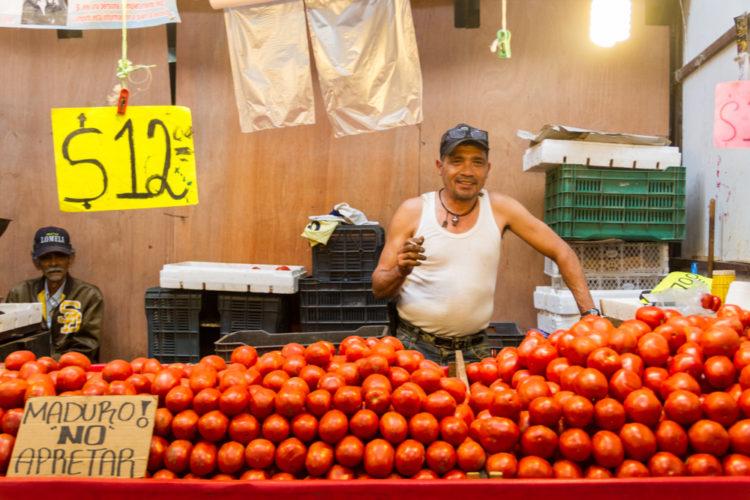 Stalls at Mercado Libertad