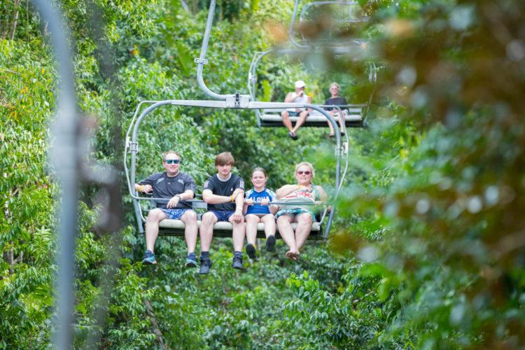 Ziplining through the jungle