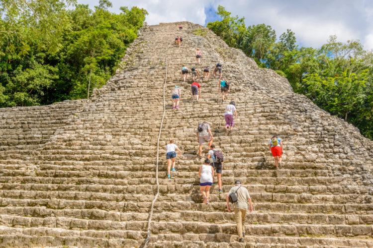 Climb the Pyramid Coba Ruins