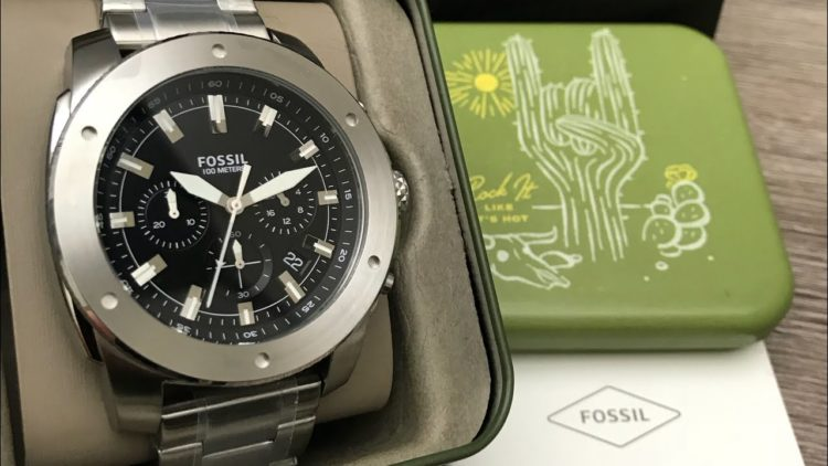 Fossil Everett 3-Hand Date Stainless Steel