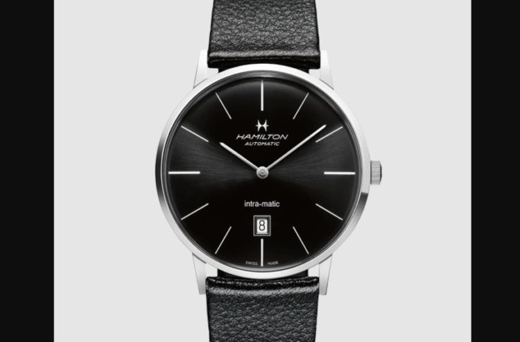 Hamilton Intra-Matic Black Dial Leather H38455731