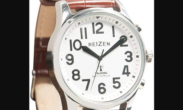 Reizen Talking Atomic Watch with Top Light- Expansion Band
