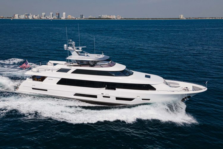 Westport Yachts' new 112-footer, Book Ends