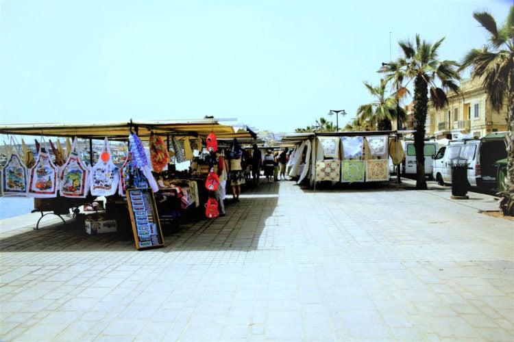 open-air market in Marsaxlokk
