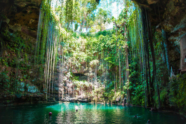 Cool off in the cenotes