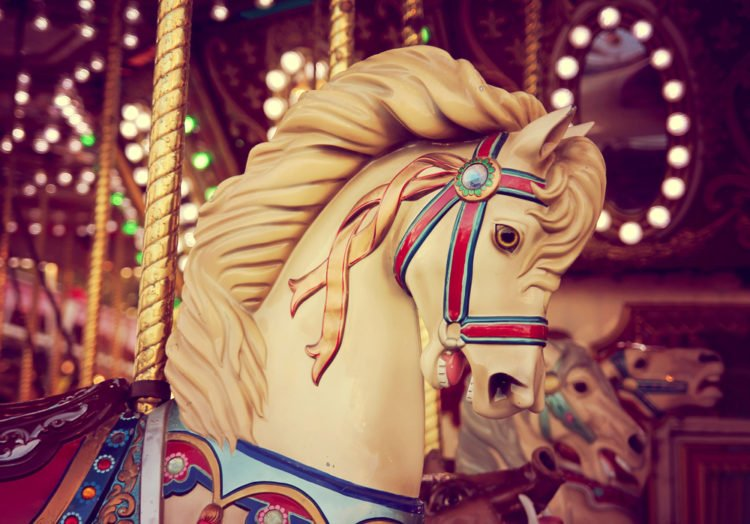 Ride an antique carousel