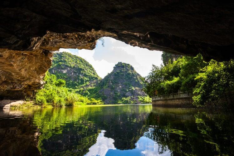 Take a boat ride in Tam Coc