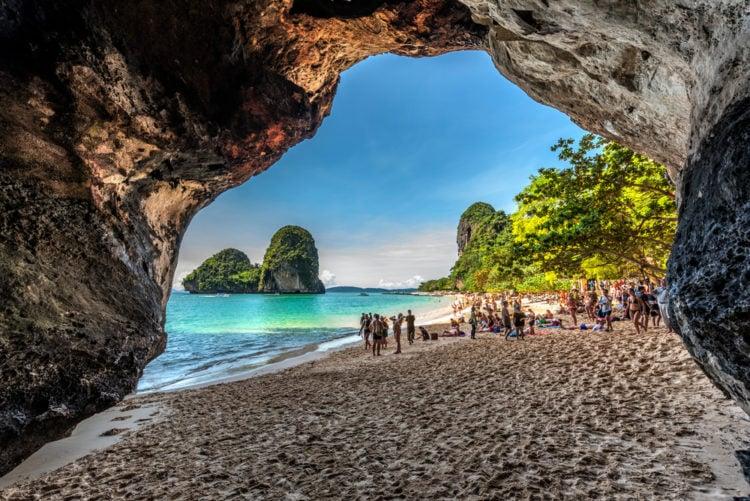 Take a walk on Phra Nang Beach