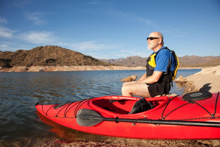 Kayak at Fool Hollow Lake Recreation Area