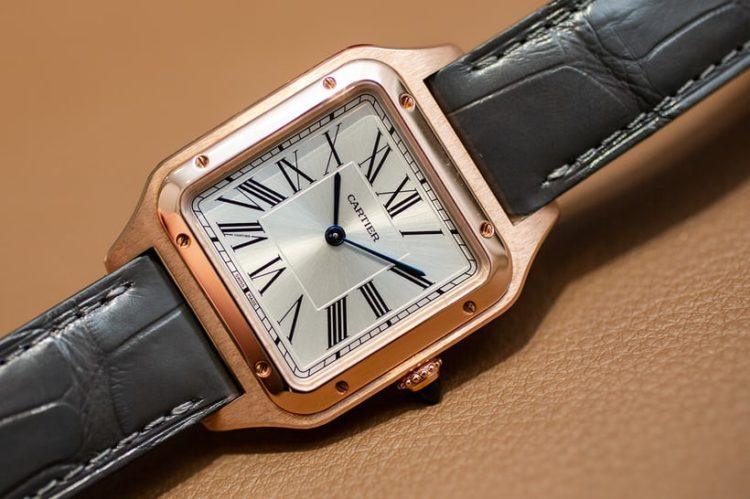 Cartier Santos Galbee XL Rose Gold VS2 Diamond Face, Bezel & Band Watch