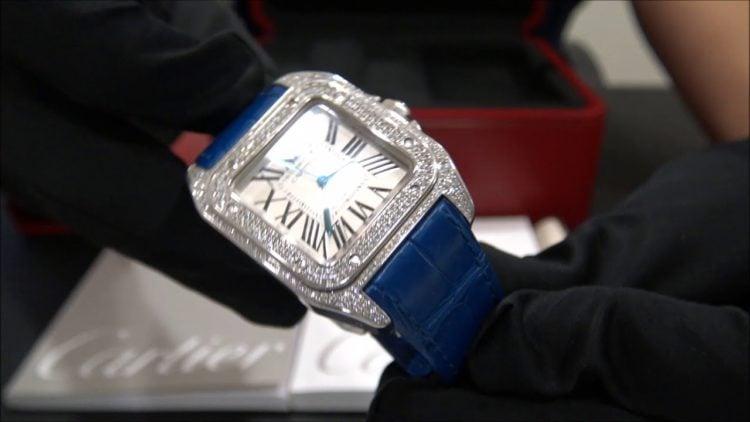 Diamond Cartier Santos 100