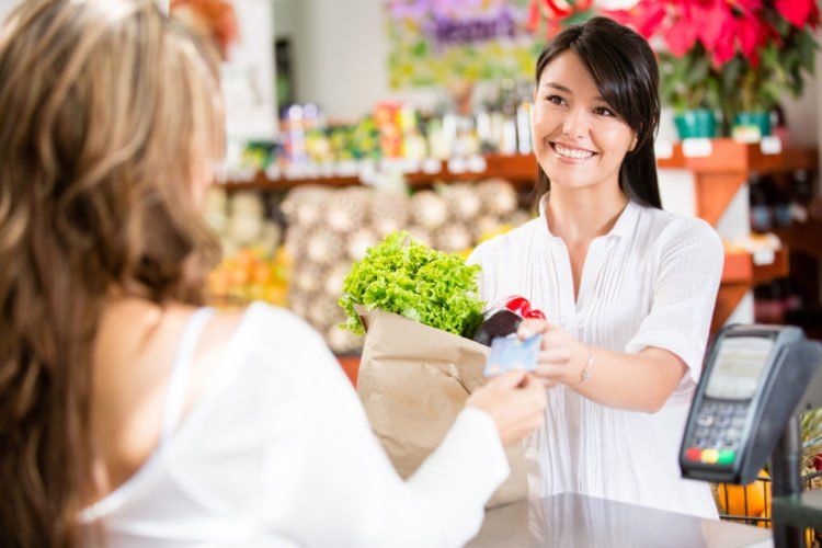 grocery shopping with credit card
