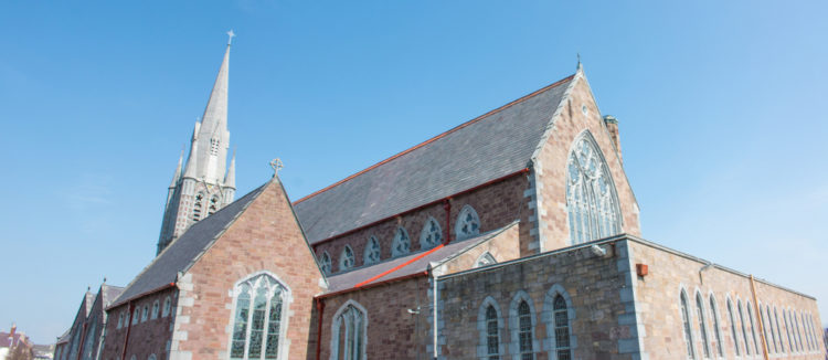 Admire the windows at St. John's Church