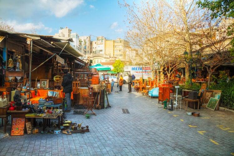 Shop for bargains at the flea market