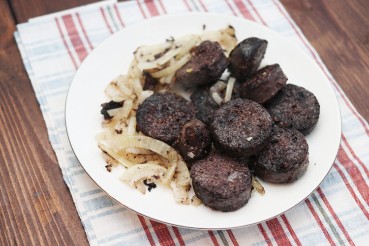 Try some blood sausage
