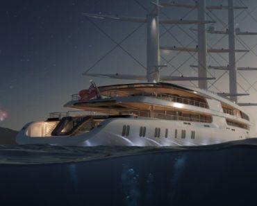 """A Closer Look at the 351-Foot Sailing Yacht """"Project Sonata"""""""