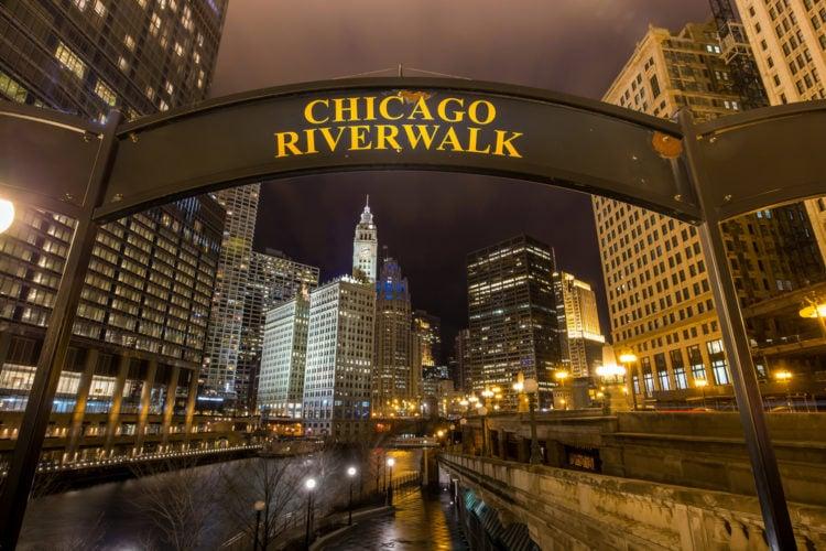 Chicago River Walk, Chicago, Illinois
